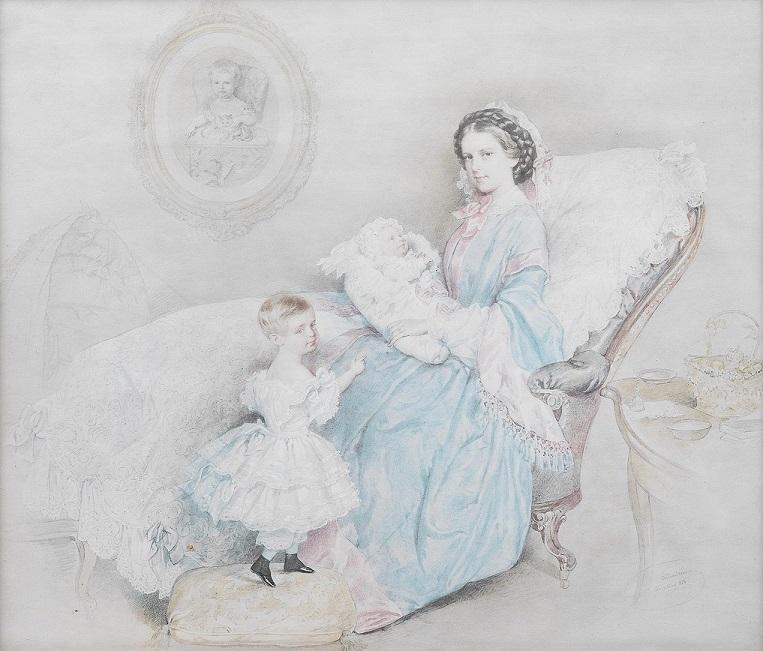 Императрица Елизавета Австрийская со своей children.jpg