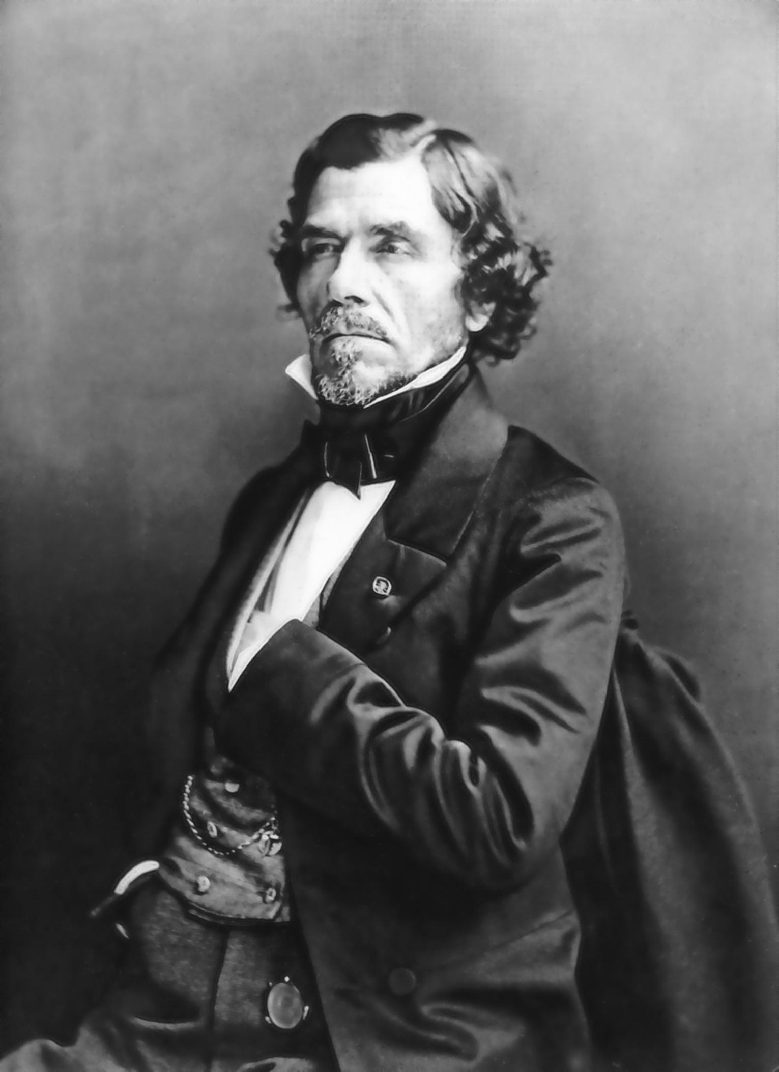 Eugène Delacroix, {{circa}} 1857 (portrait by [[Nadar (photographer)|Nadar]])