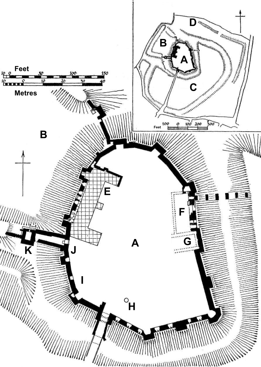 File Framlingham Castle Plan Png Wikimedia Commons