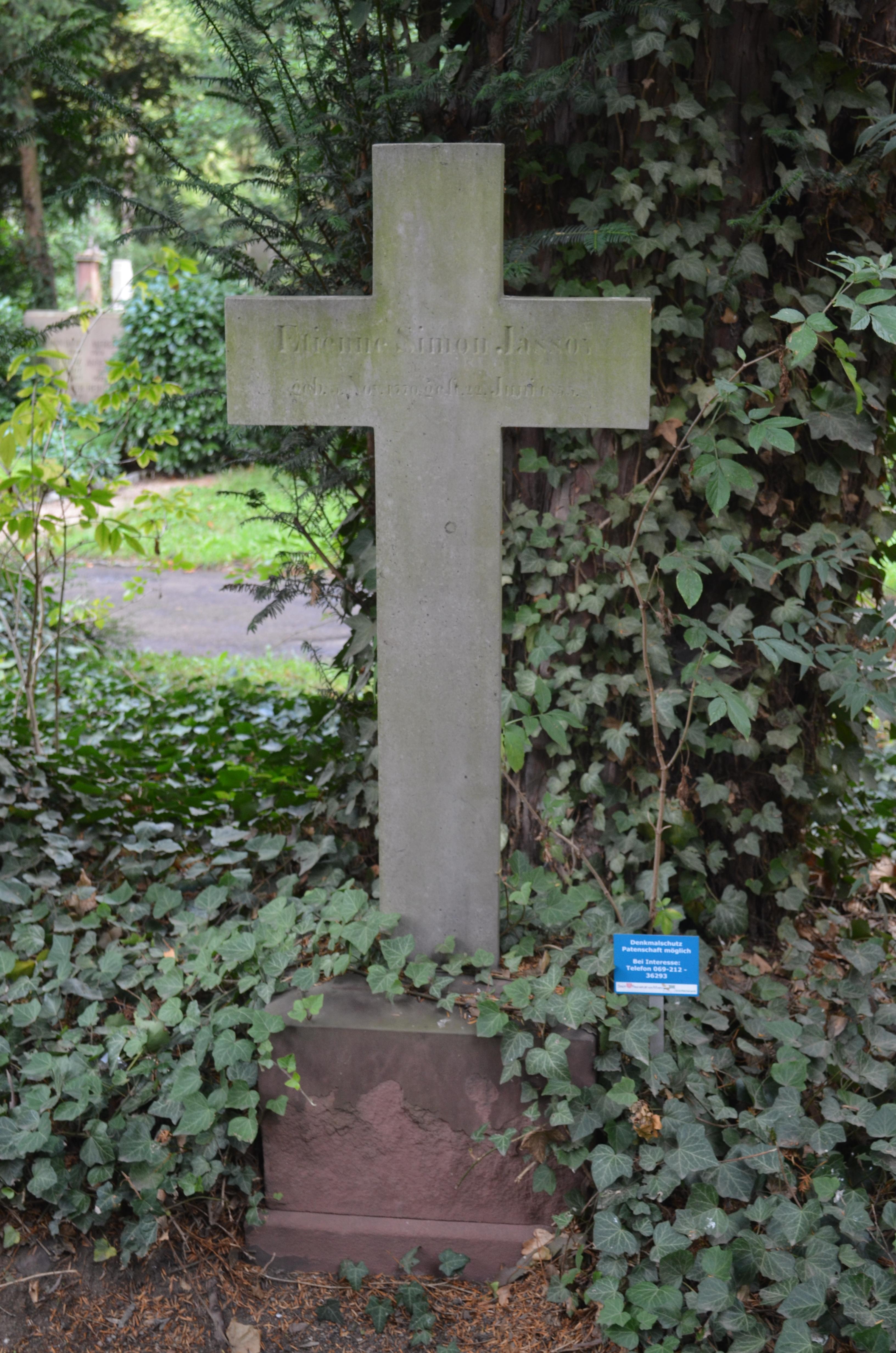 Dateifrankfurt Hauptfriedhof Grab D 241 Jassoyjpg Wikipedia