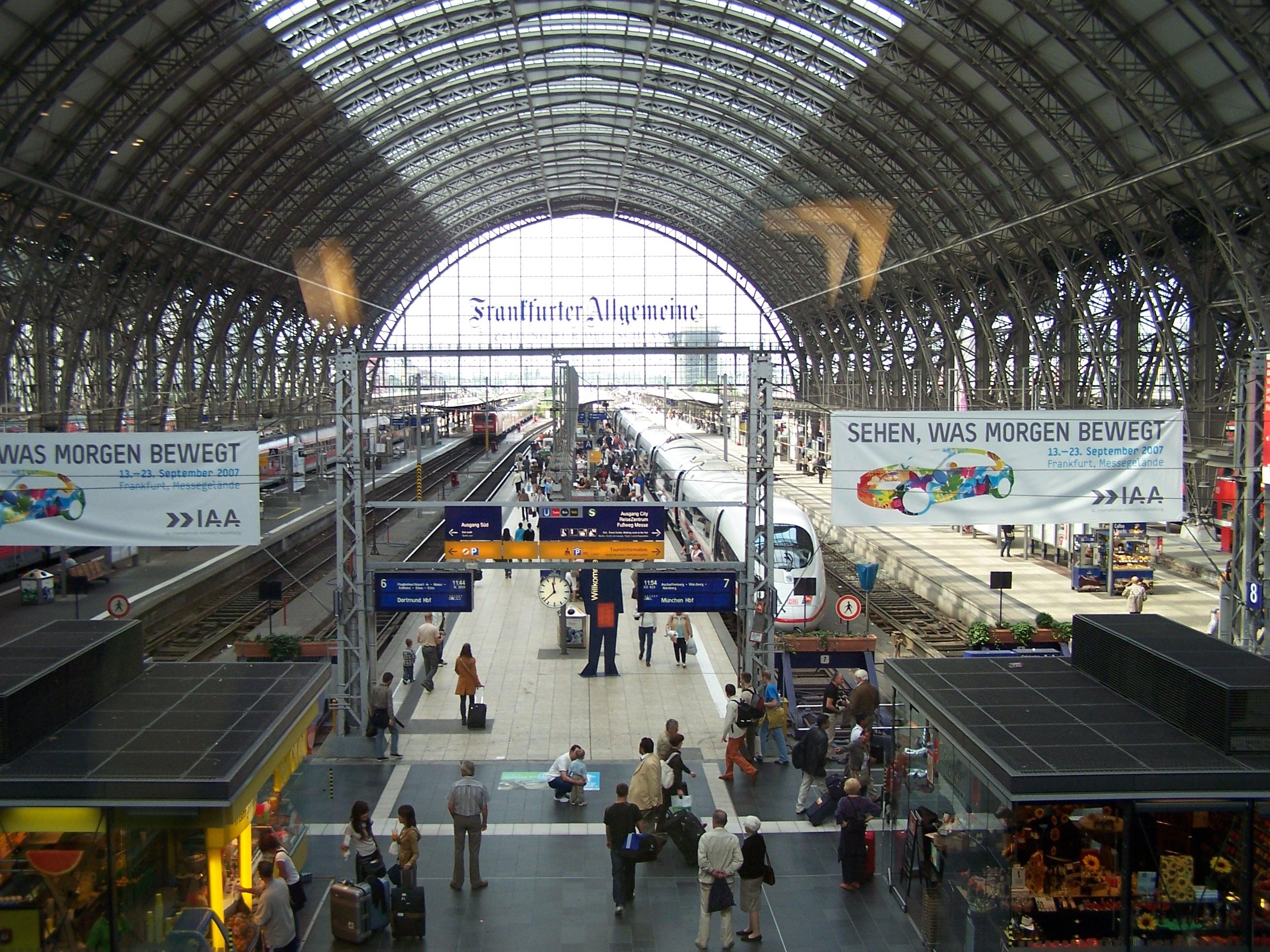 Frankfurt Main Hauptbahnhof German For Frankfurt Main