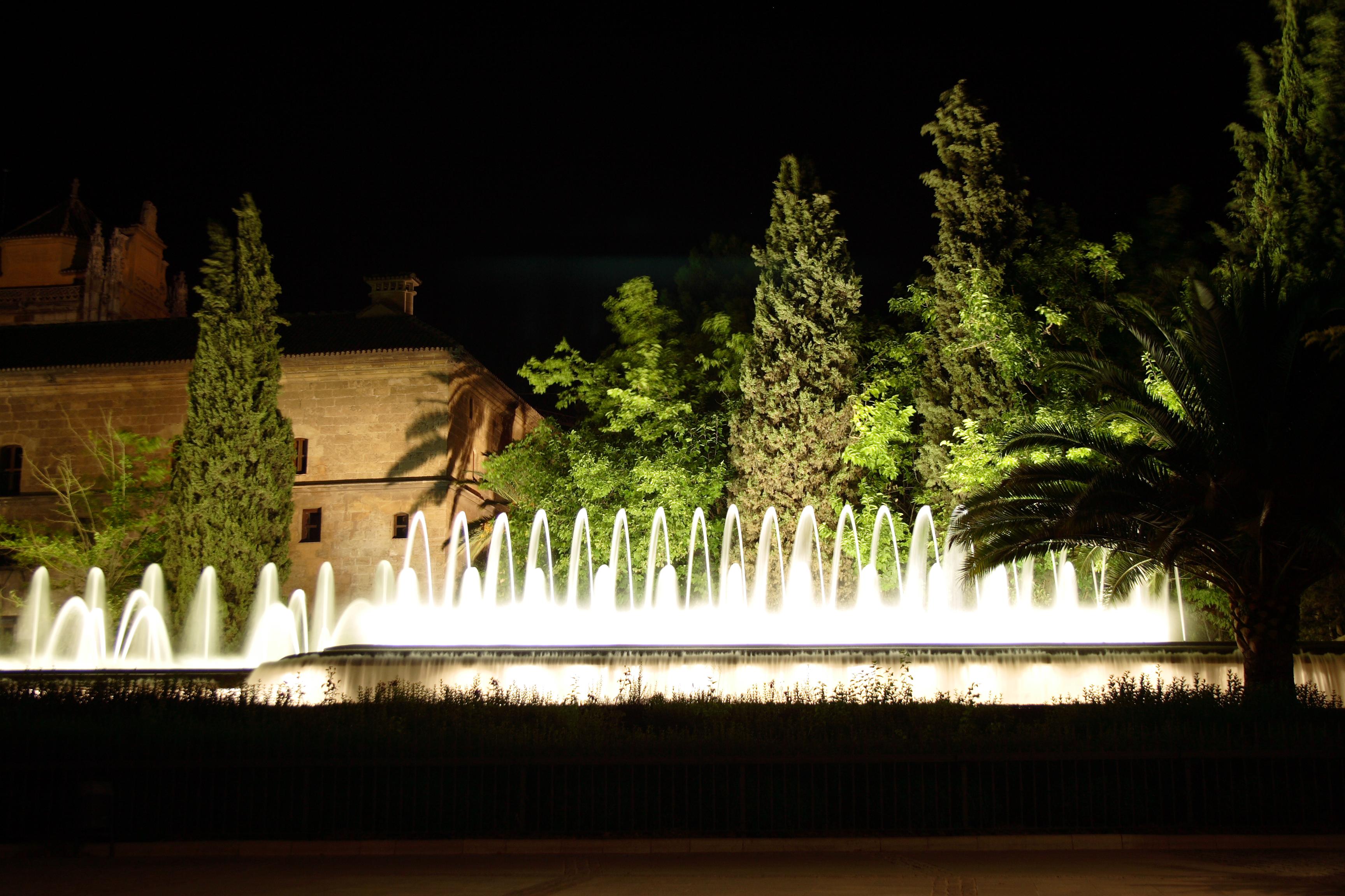 One of Granadas more impressive fountains in Plaza Triunfo