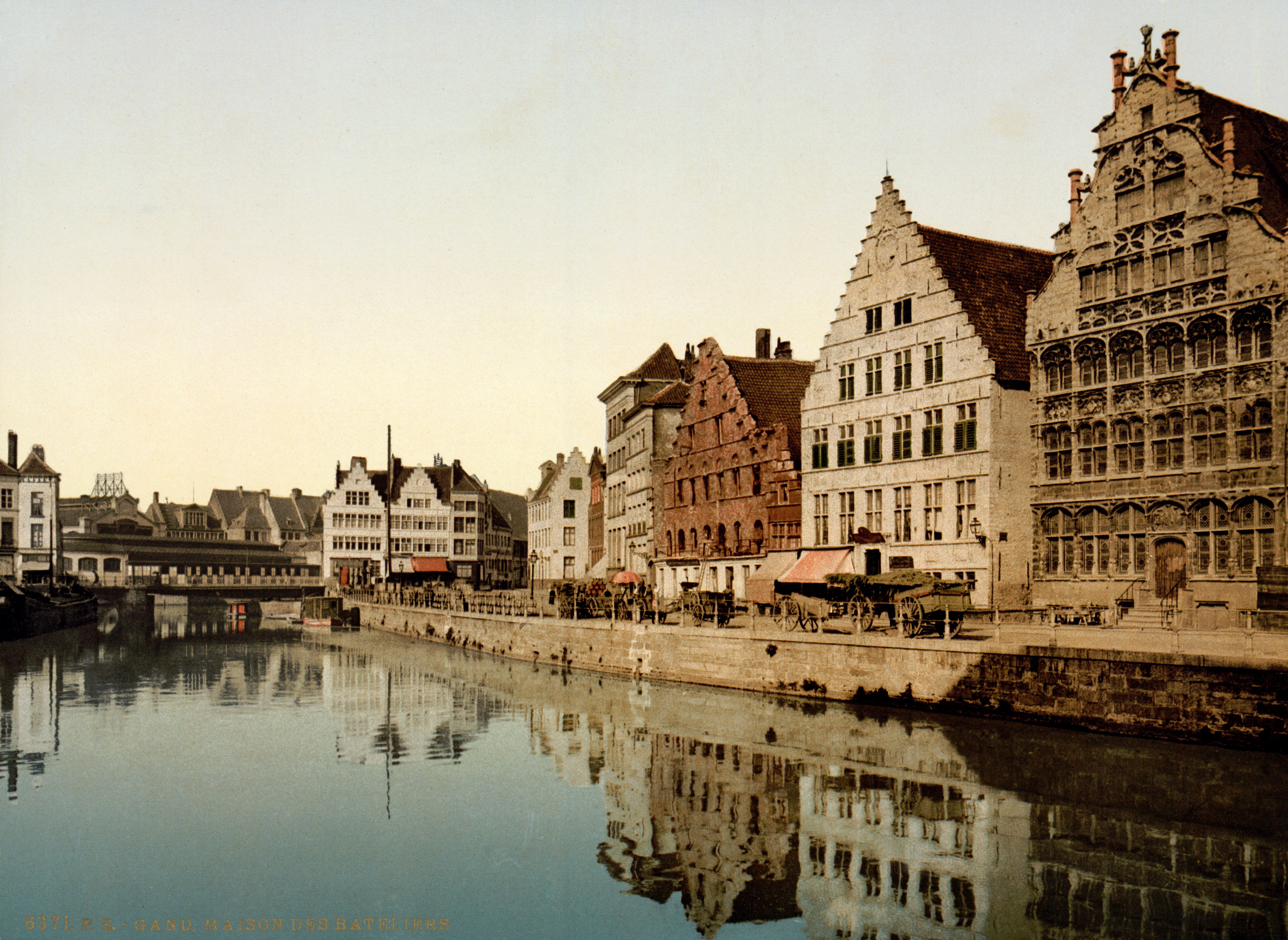 Ghent Belgium  city photos gallery : Description Graslei, Ghent, Belgium, 1890s