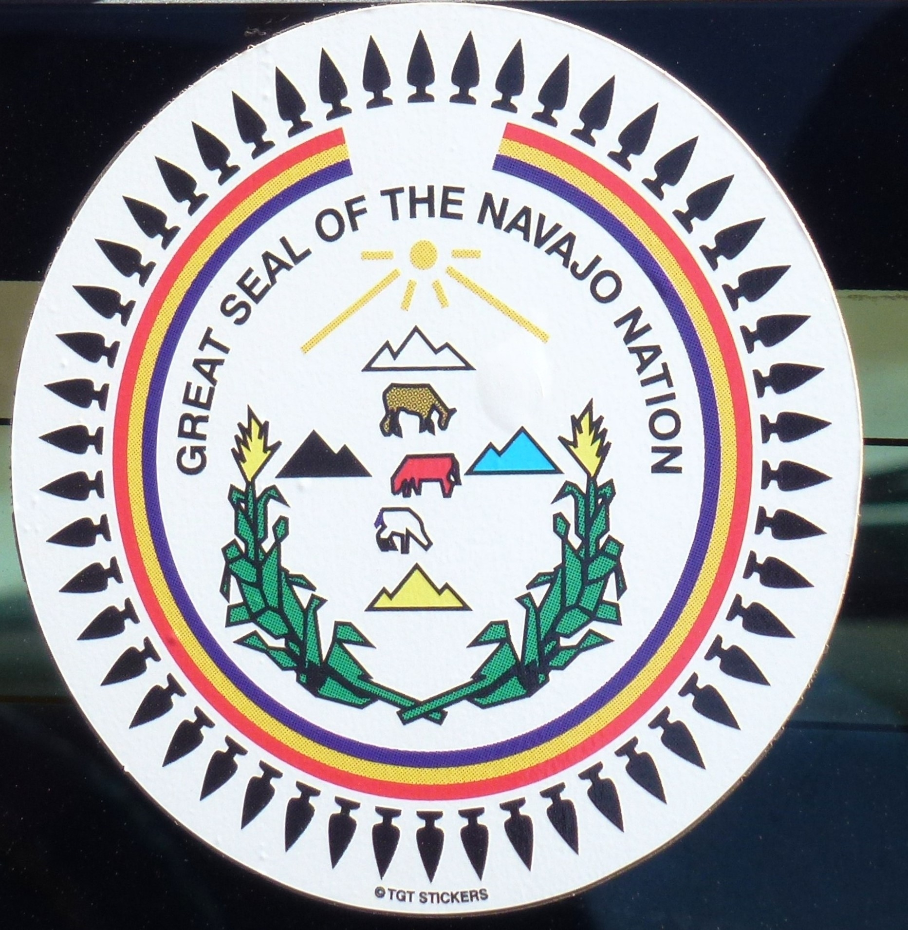 File:Great seal of Native American tribe Navaro in Monument Valley ...