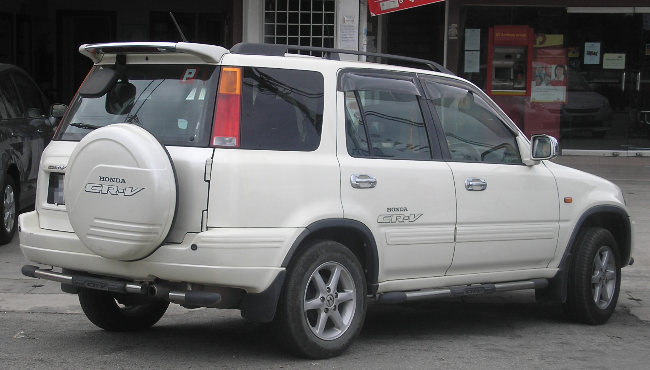 Honda Cr H >> File:Honda CR-V (first generation, first facelift) (rear), Semenyih.jpg - Wikimedia Commons