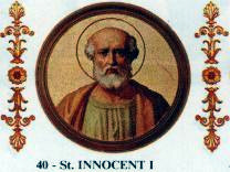 Pope Innocent I pope