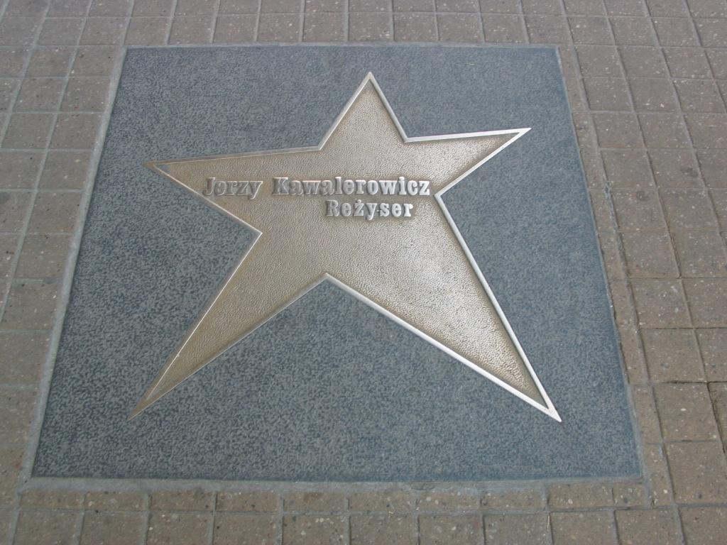 Kawalerowicz's star on the d Walk of Fame