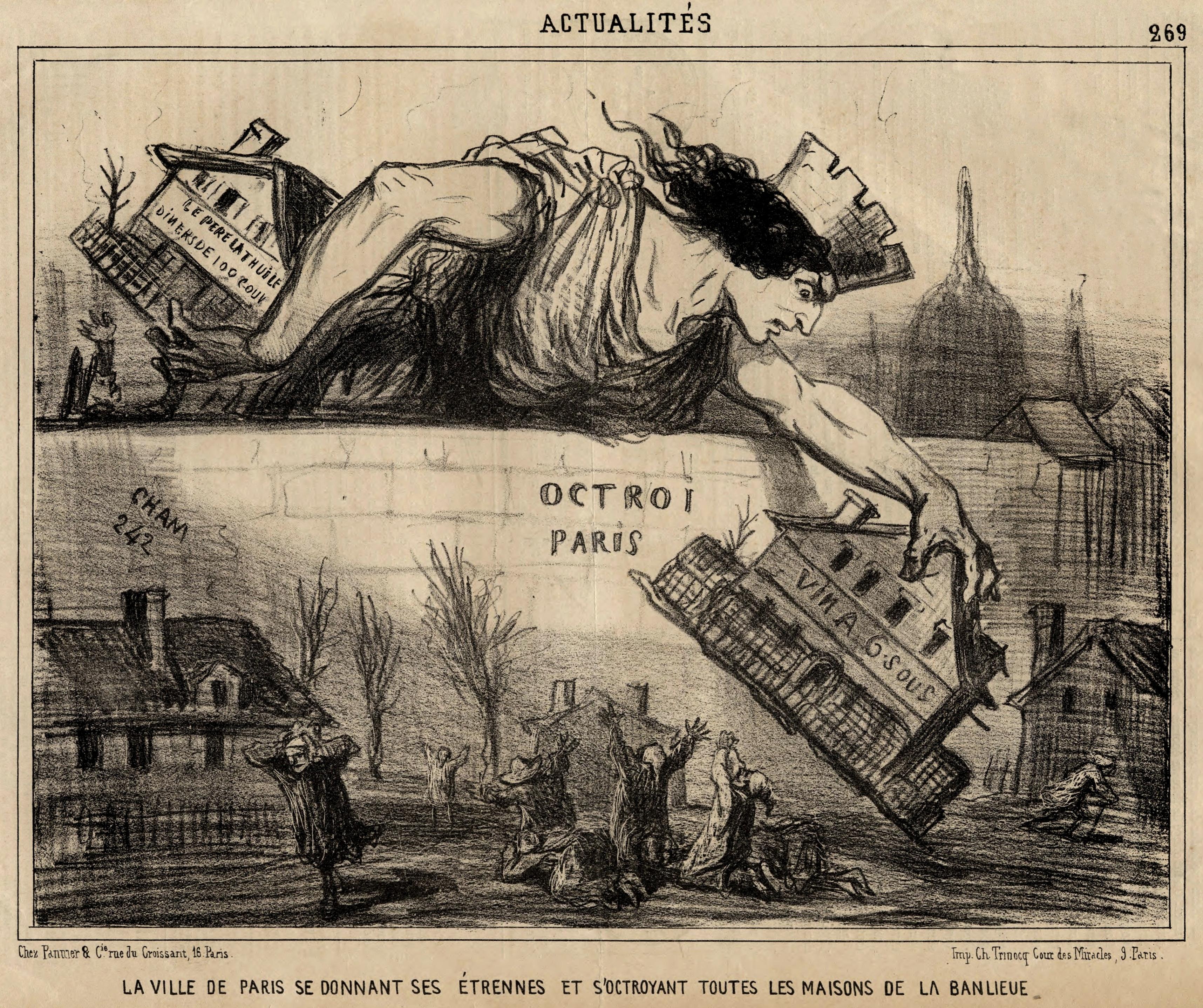 File la ville de paris se donnant ses trennes et s 39 octroyant toutes les - Maison de la bibliotheque ...