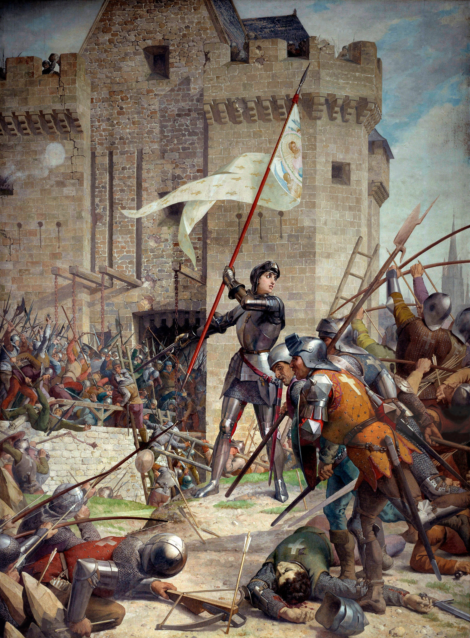 Jeanne d'Arc at the Siege of Orléans by Jules Eugène Lenepveu, painted 1886–1890.