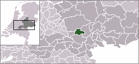 The location of the Renkum municipality in the Netherlands. LocatieRenkum.png