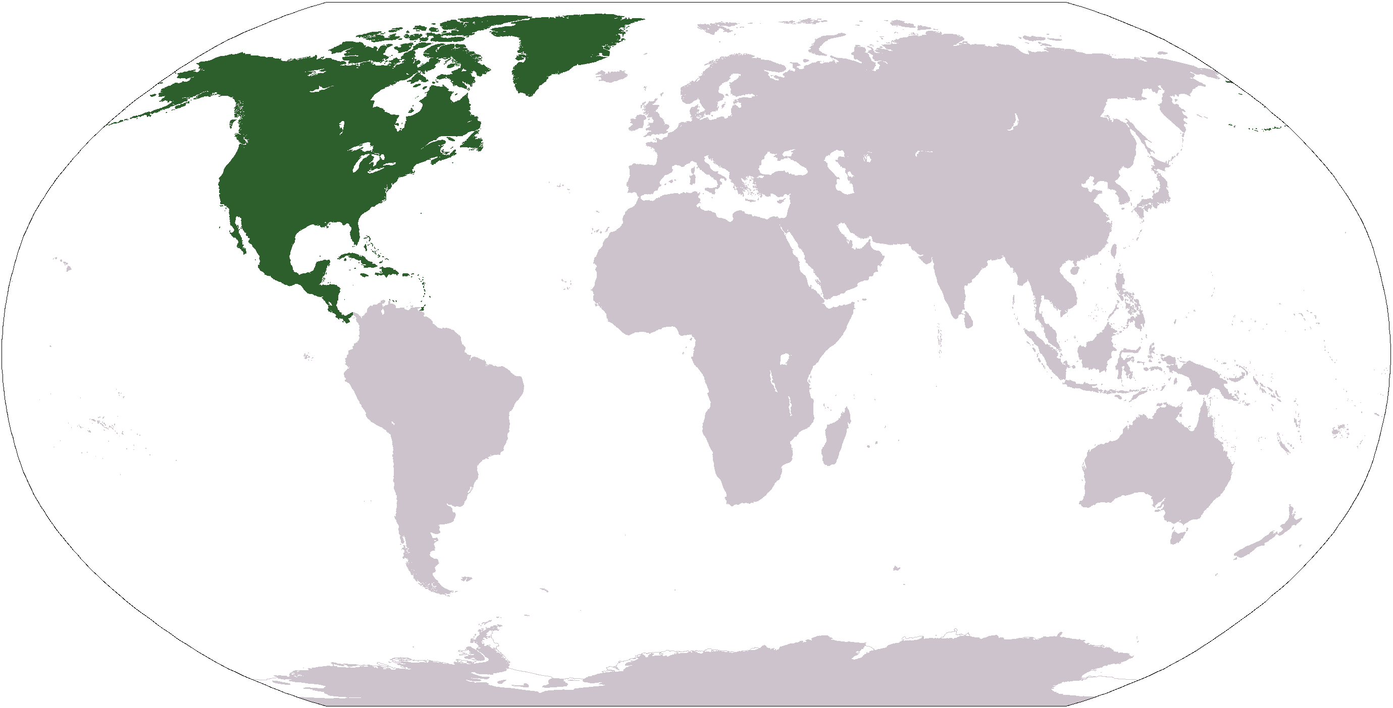Location of North America