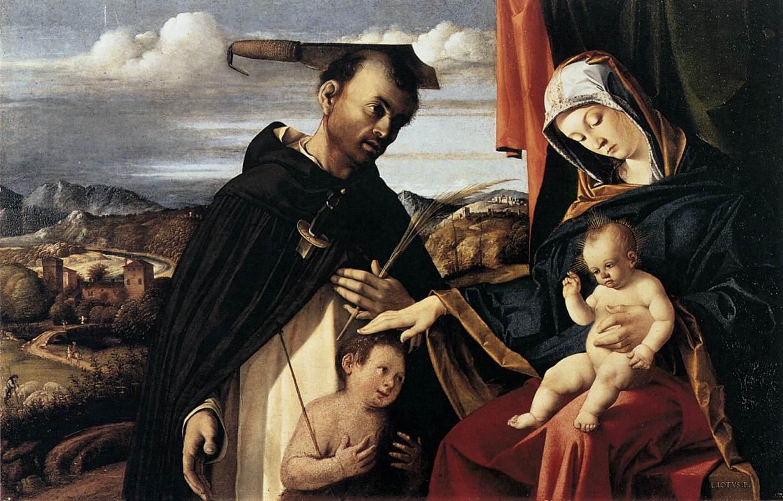 https://upload.wikimedia.org/wikipedia/commons/e/e9/Lorenzo_Lotto_-_Madonna_and_Child_with_St_Peter_Martyr_-_WGA13648.jpg