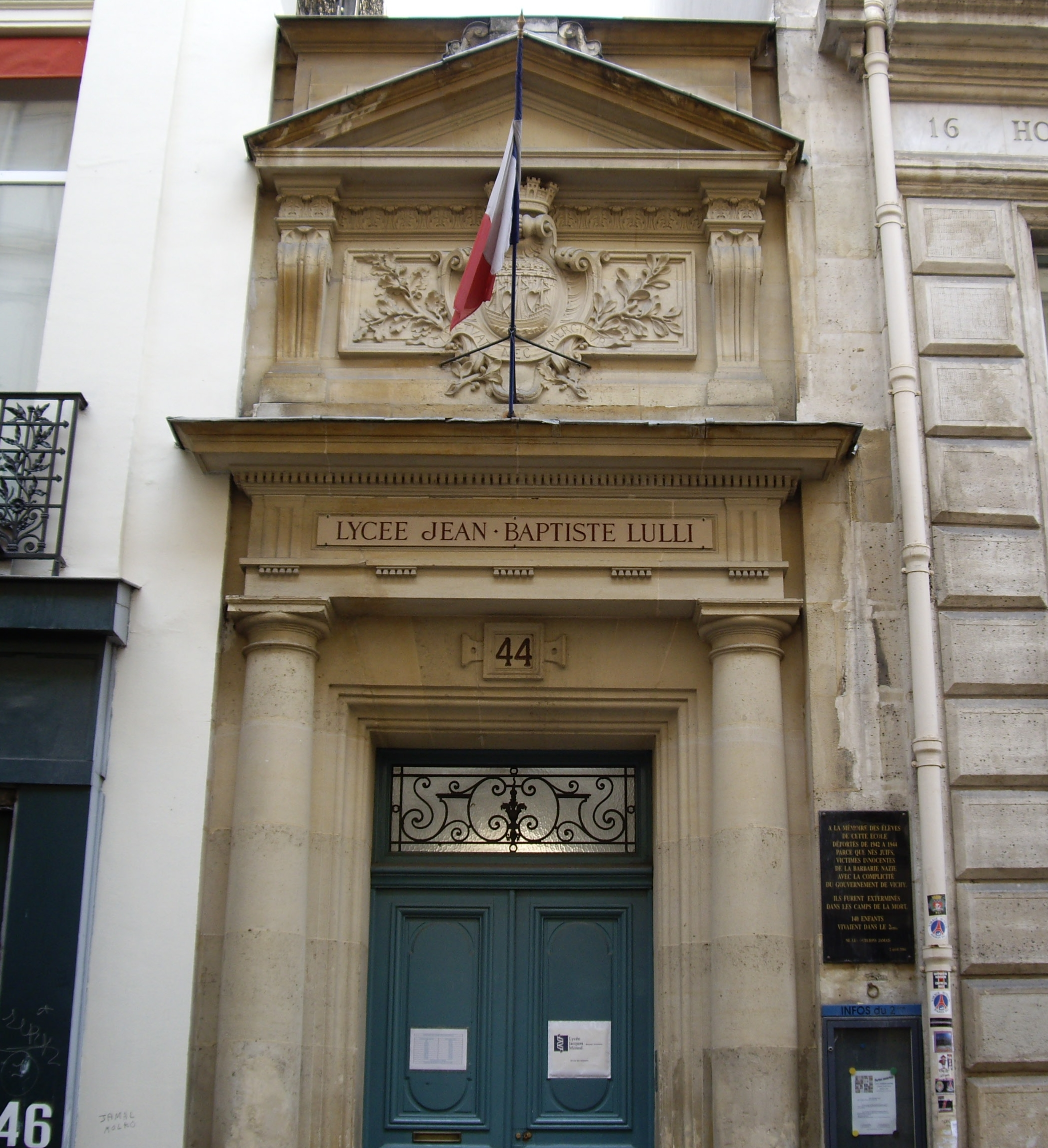 file lyc u00e9e jean-baptiste lully  rue des je u00fbneurs  paris 2 jpg