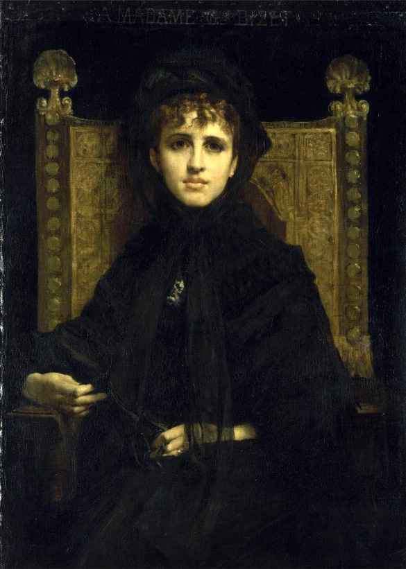 Geneviève Bizet, pintada en 1878 por Jules-Élie Delaunay.