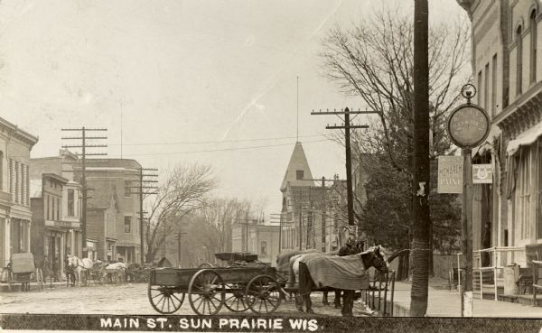 Sun Prairie (WI) United States  city pictures gallery : Main.St Sun Prairie ca.1900 Wikimedia Commons