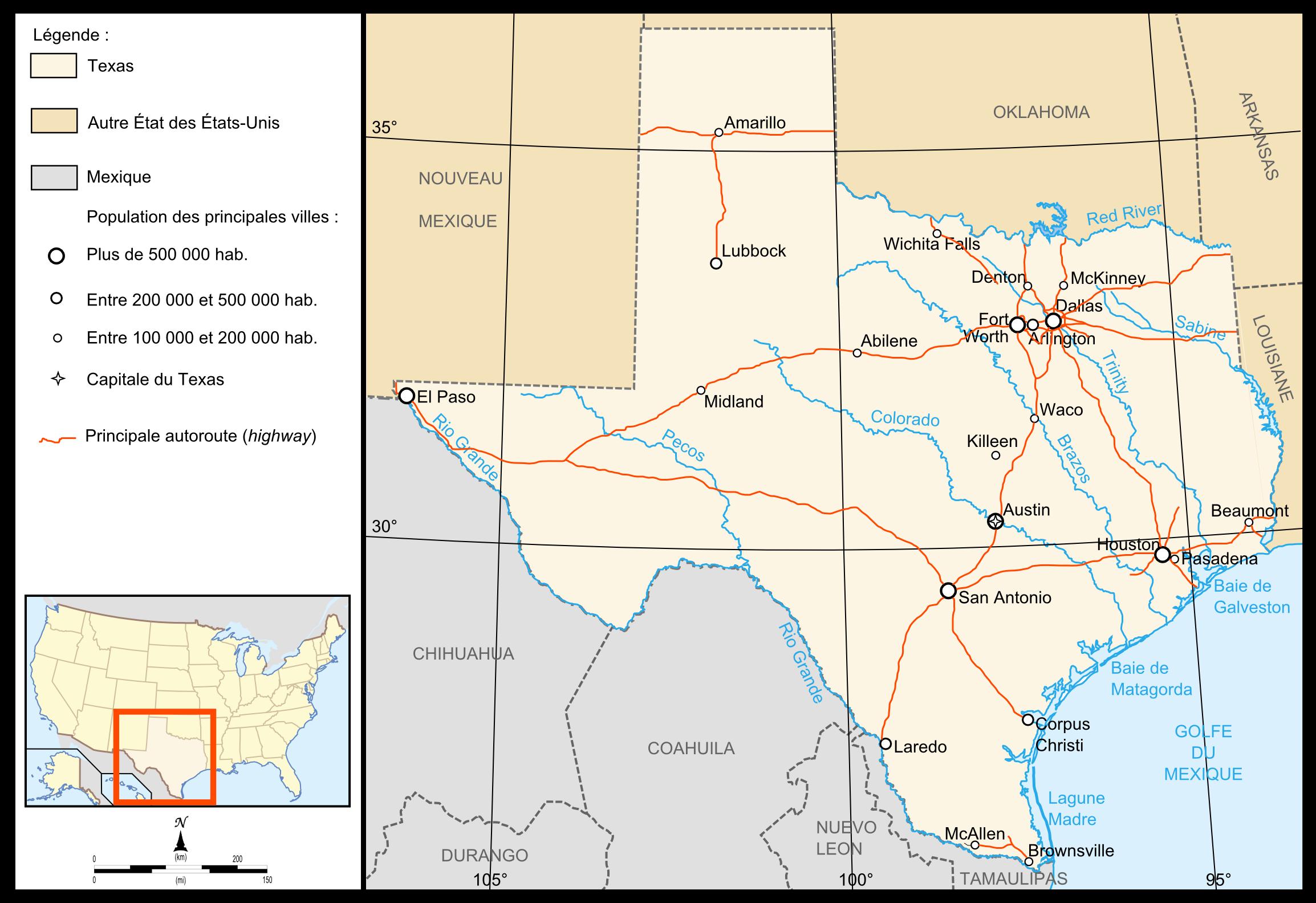 Geografía De Texas Wikiwand - Mapa de texas