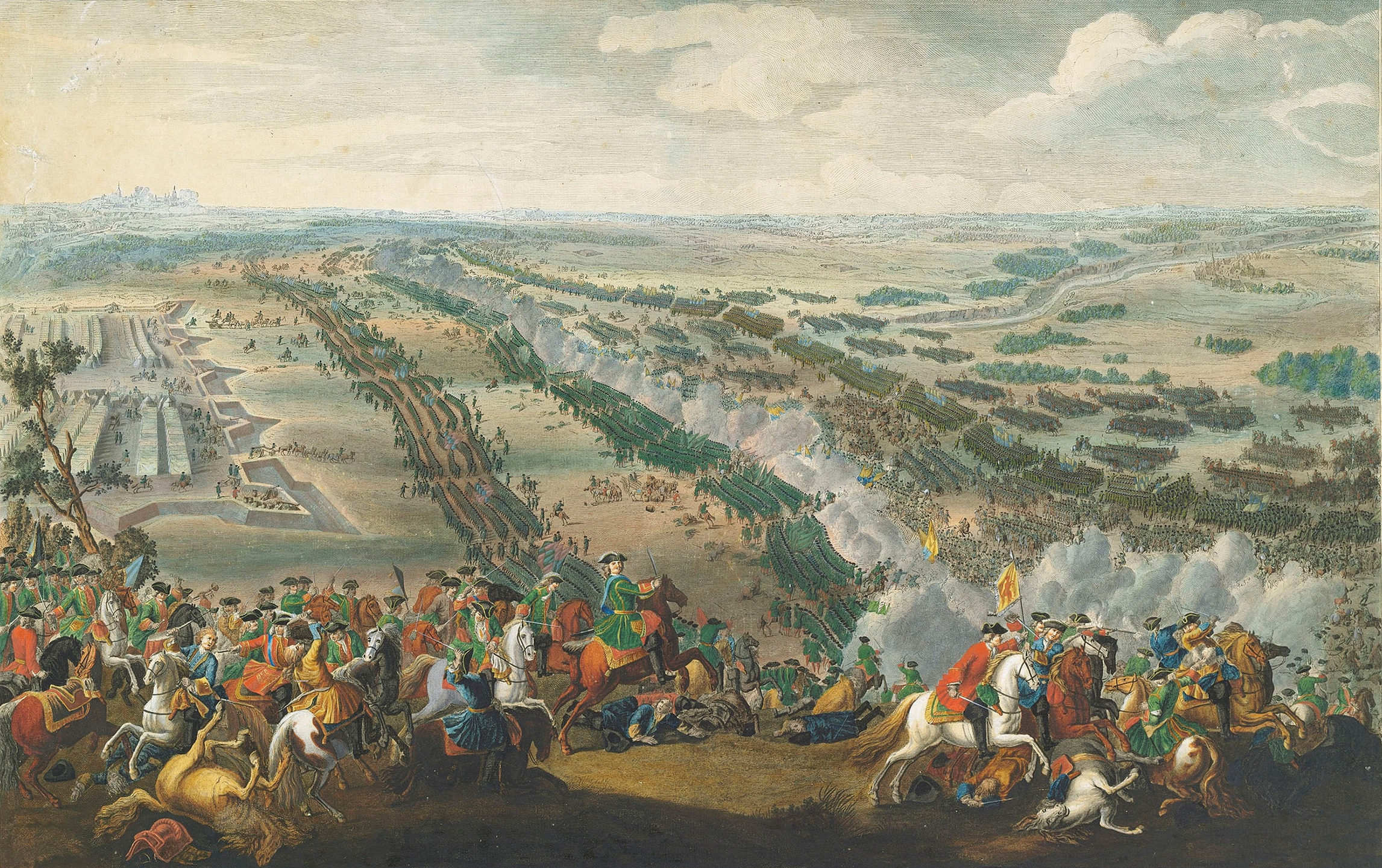 The Battle of Poltava by Denis Martens the Younger – 1726.