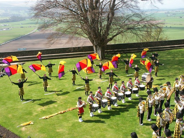 Music in the Rose Garden at Stirling Castle - geograph.org.uk - 794952