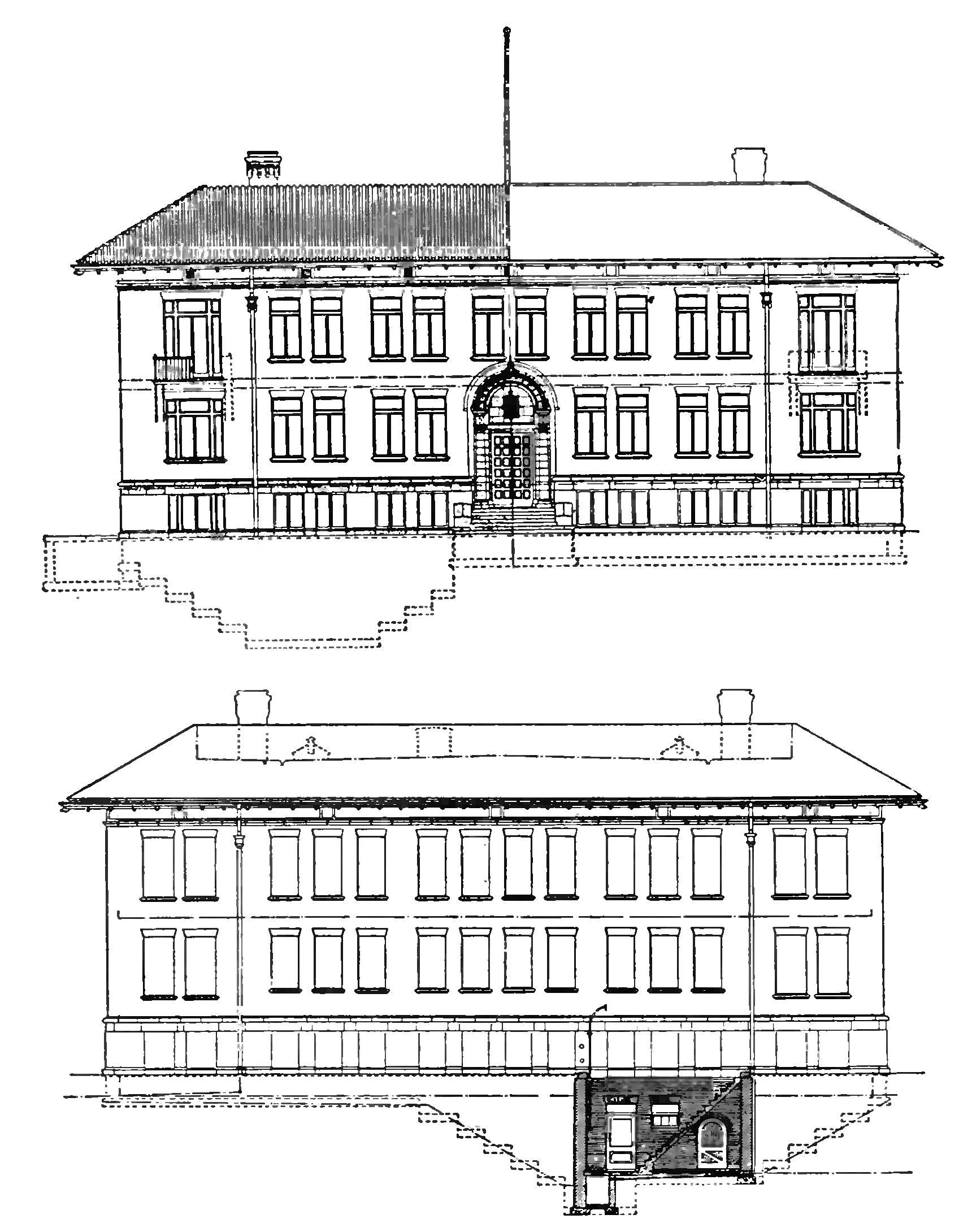 PSM V84 D418 Front and rear views of the building for the department of terrestrial magnetism.jpg