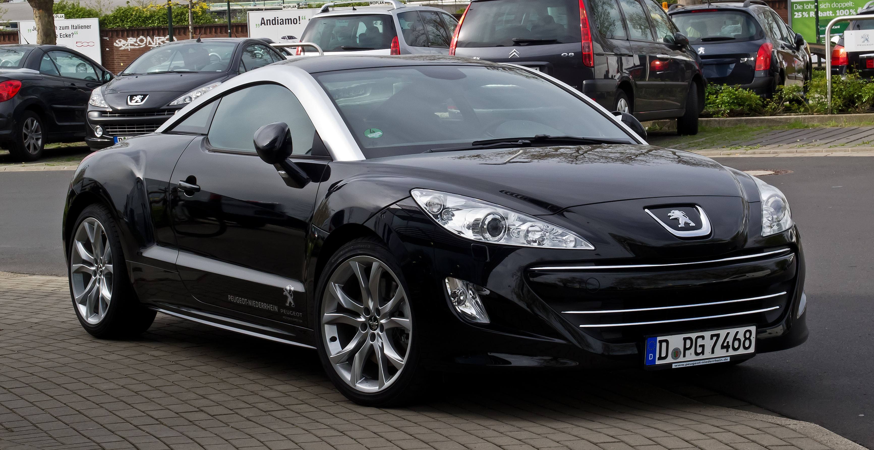 file peugeot rcz hdi fap 165 frontansicht 28 april 2012 d wikimedia commons. Black Bedroom Furniture Sets. Home Design Ideas
