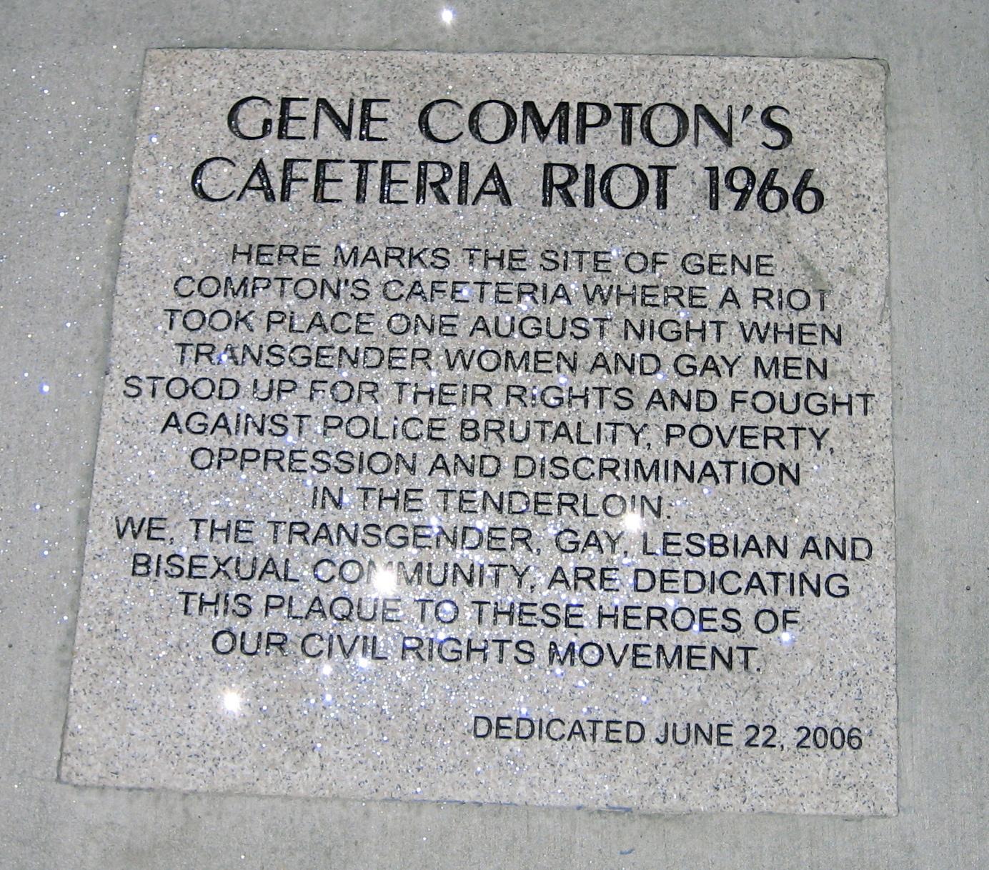 Resultado de imagen para disturbios compton lgbt