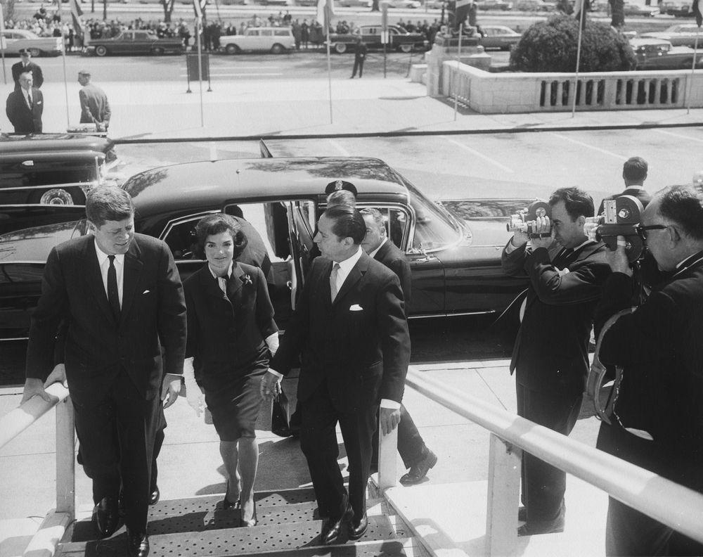 Præsident John F. Kennedy og første damen Jacqueline Kennedy