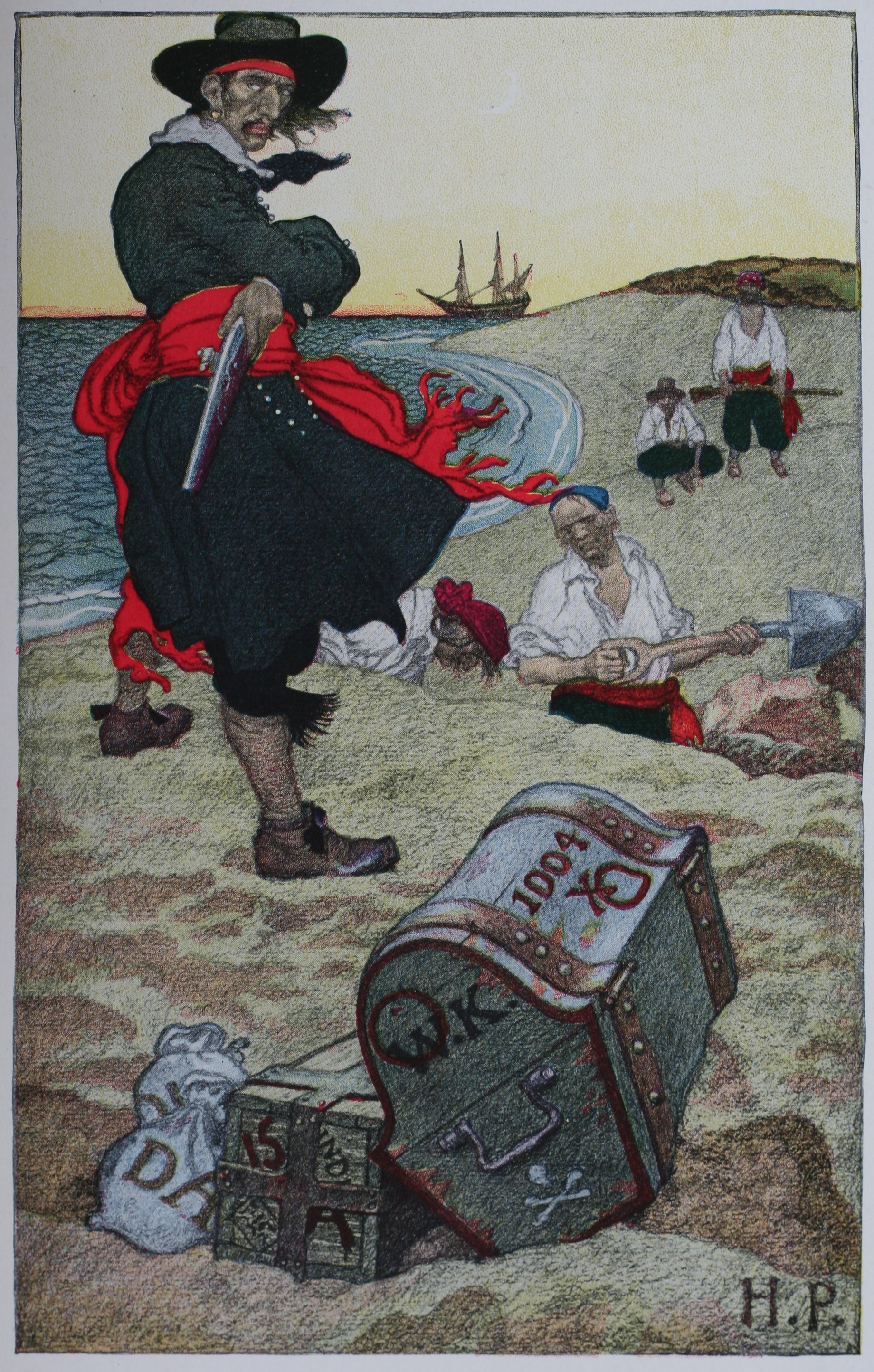 Howard Pyle: Buried Treasure 1921 - Quelle: Wikimedia Commons