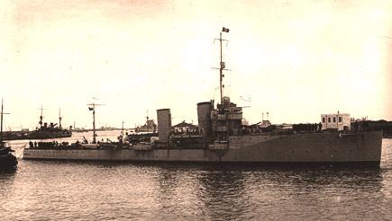 Italian cruiser Cesare Rossarol