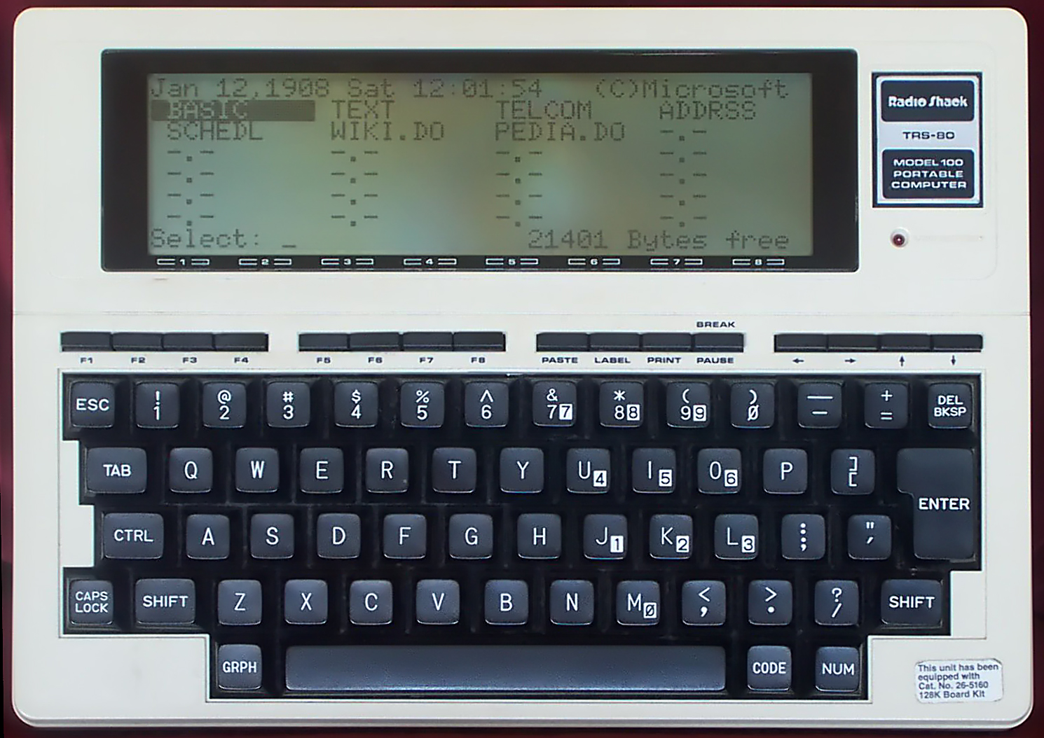 Trs 80 model 100 wikiwand for Fenetre 80 100