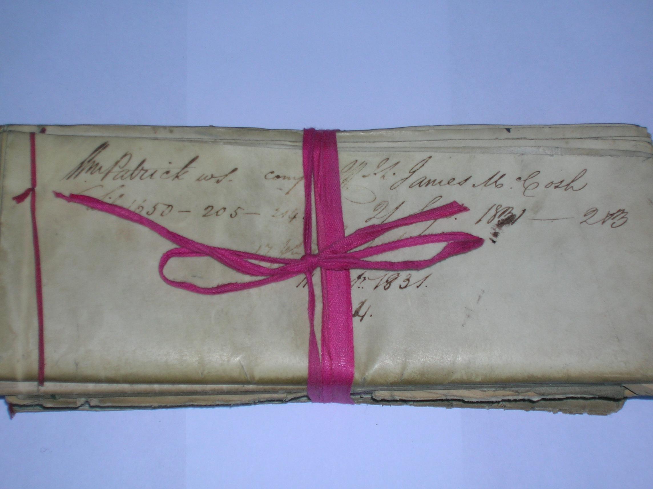 Red tape binds 19th century documents, the origin of phrase