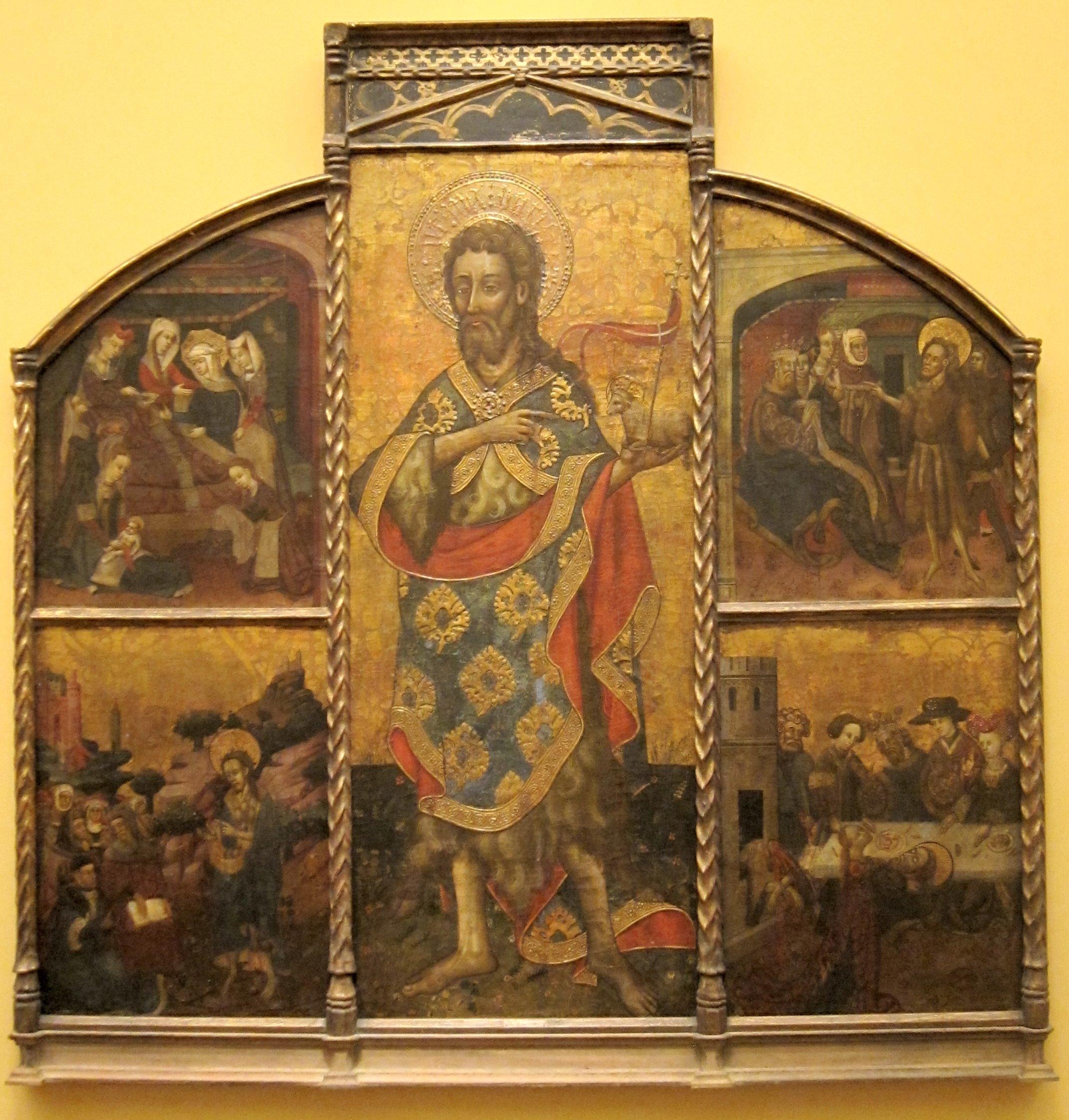 File Retable Of Saint John The Baptist By Blasco De