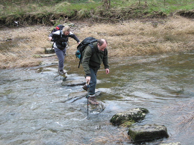 River crossing below Beeston Tor - geograph.org.uk - 685647