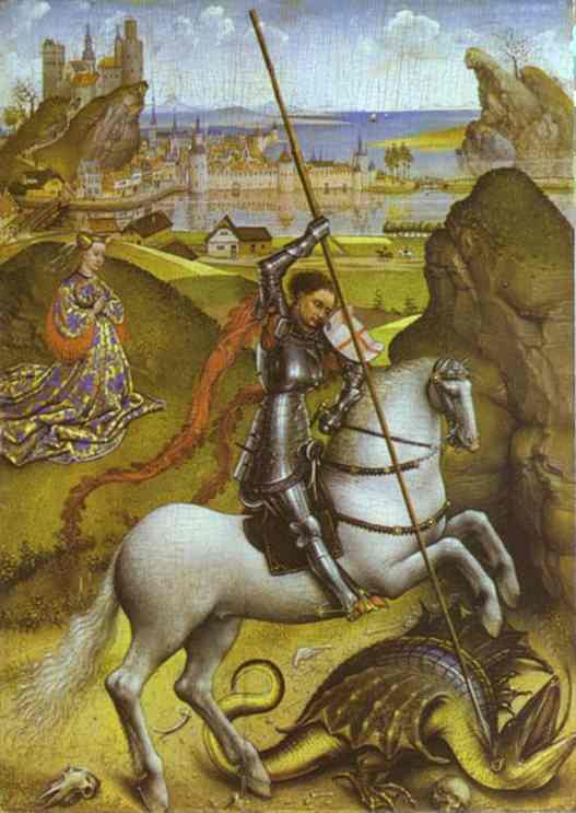 http://upload.wikimedia.org/wikipedia/commons/e/e9/Rogier_van_der_Weyden_-_Saint_George_and_the_Dragon.jpg