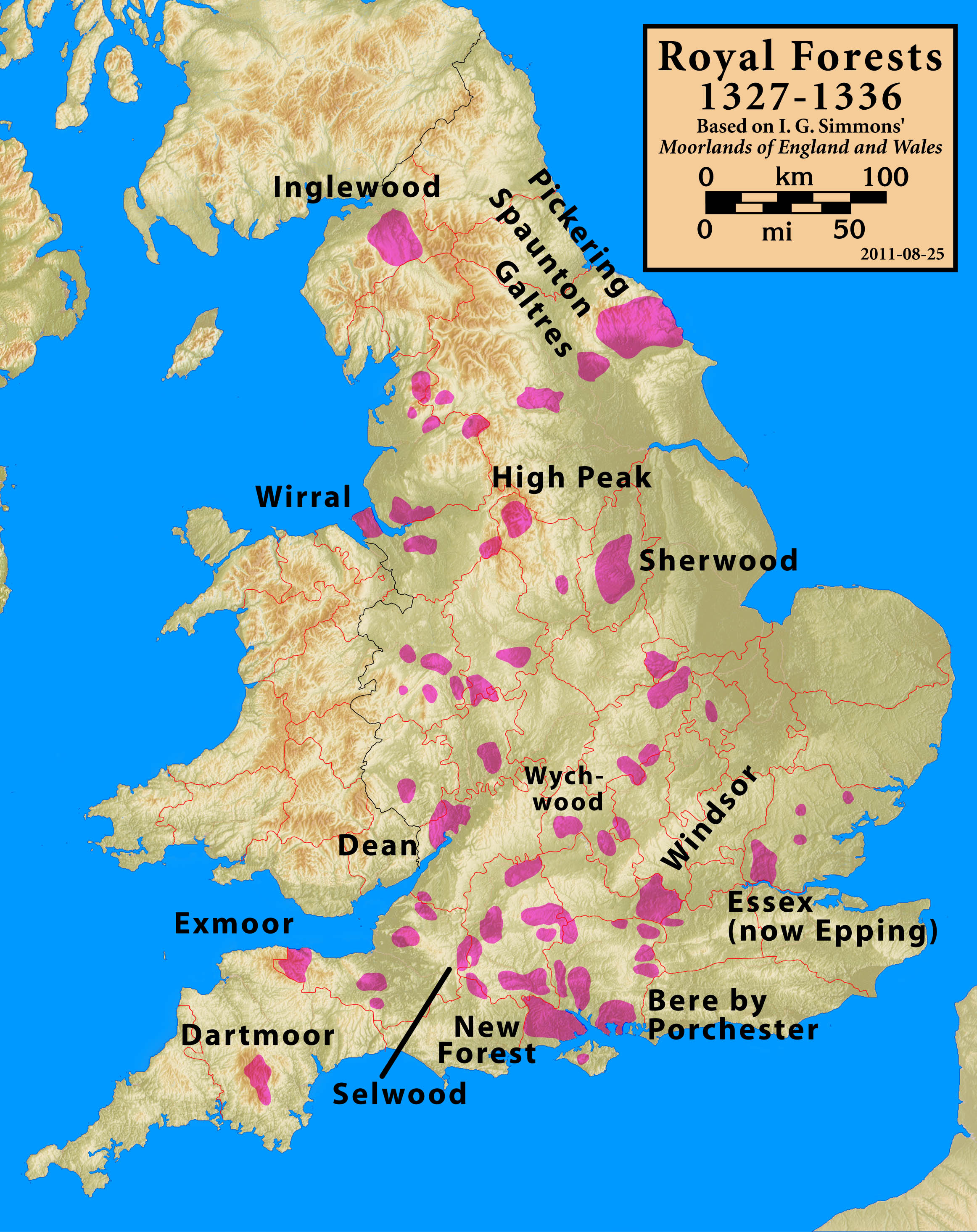 Map Of Uk Forests.File Royal Forests 1327 1336 Selected Jpg Wikipedia