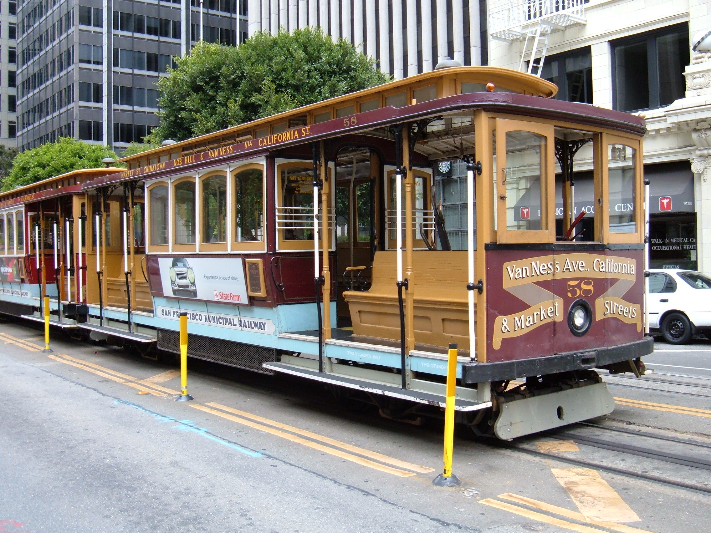 File san francisco cable car no 58 on california st 1 for Chambre cars