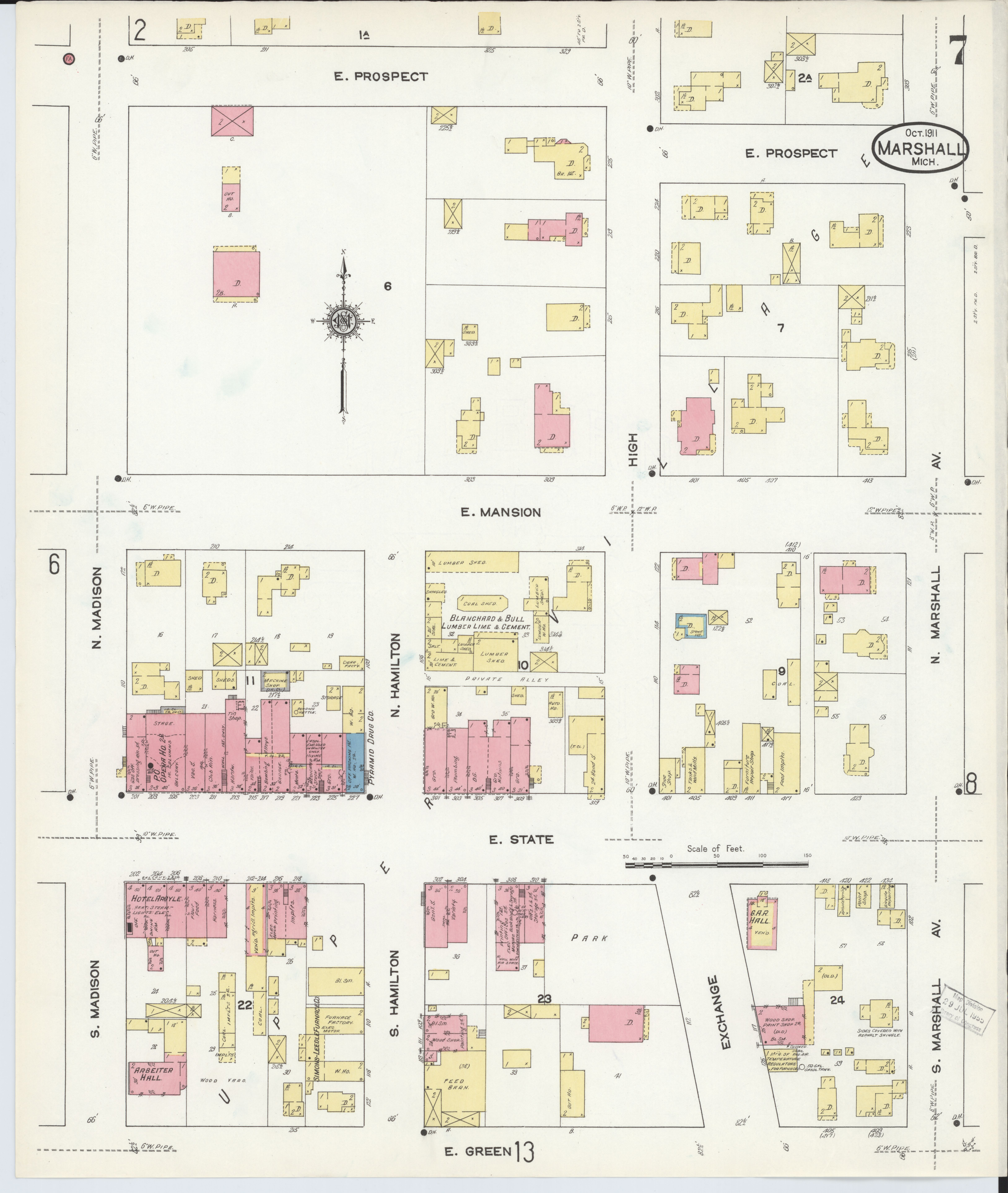 File:Sanborn Fire Insurance Map from Marshall, Calhoun