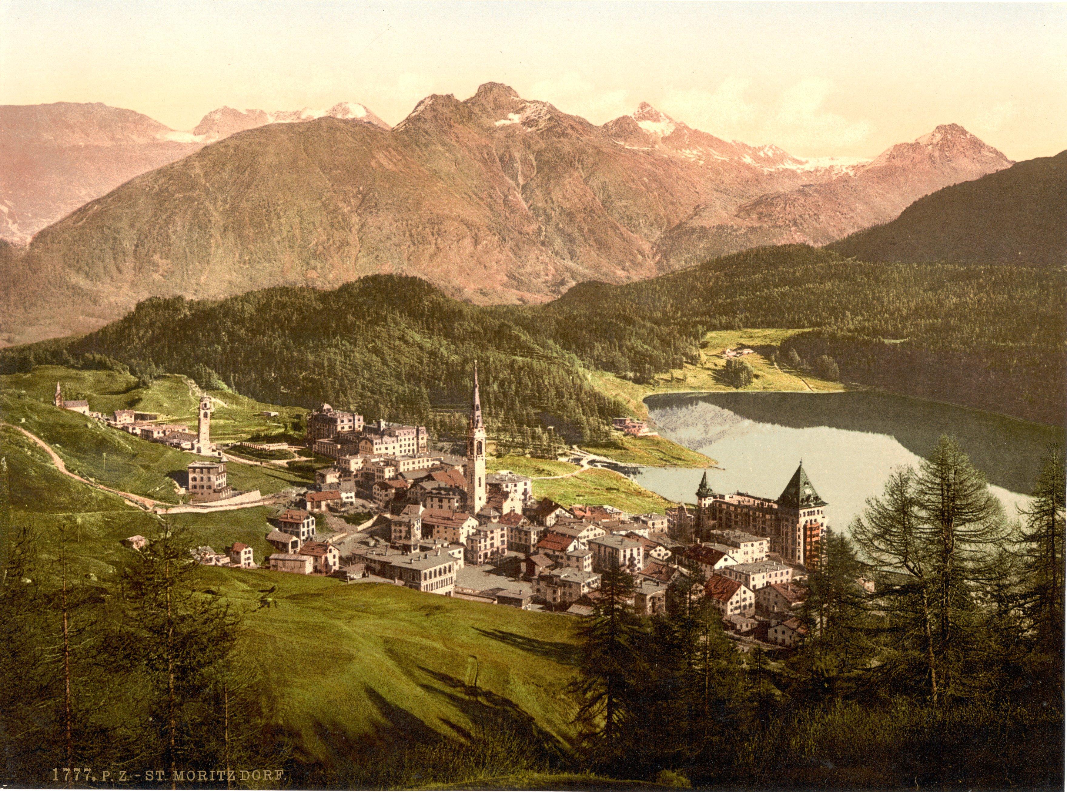 File Sankt Moritz Dorf Um 1900 Jpg Wikimedia Commons
