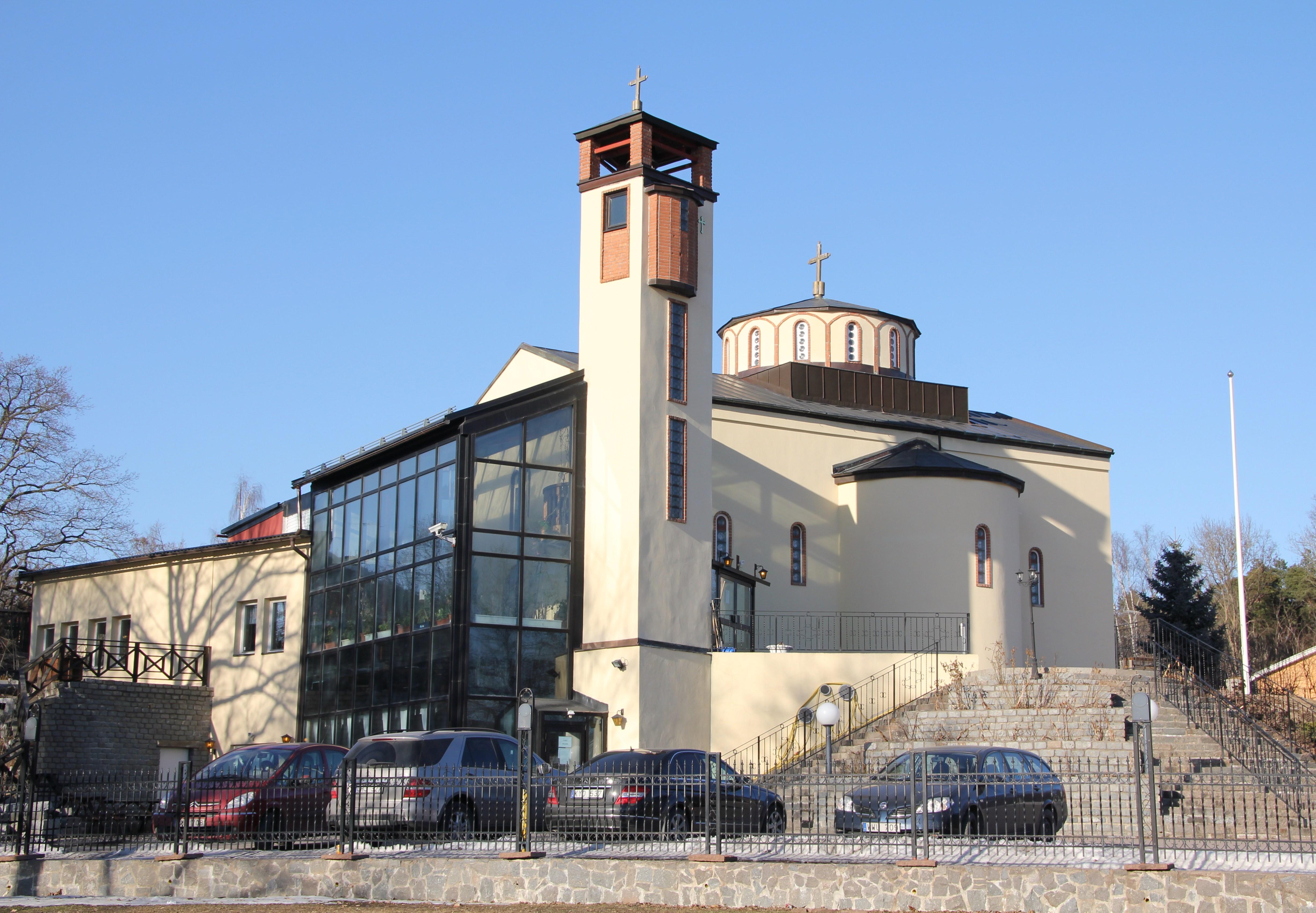 Bild av Sankt Sava serbisk-ortodoxa kyrka