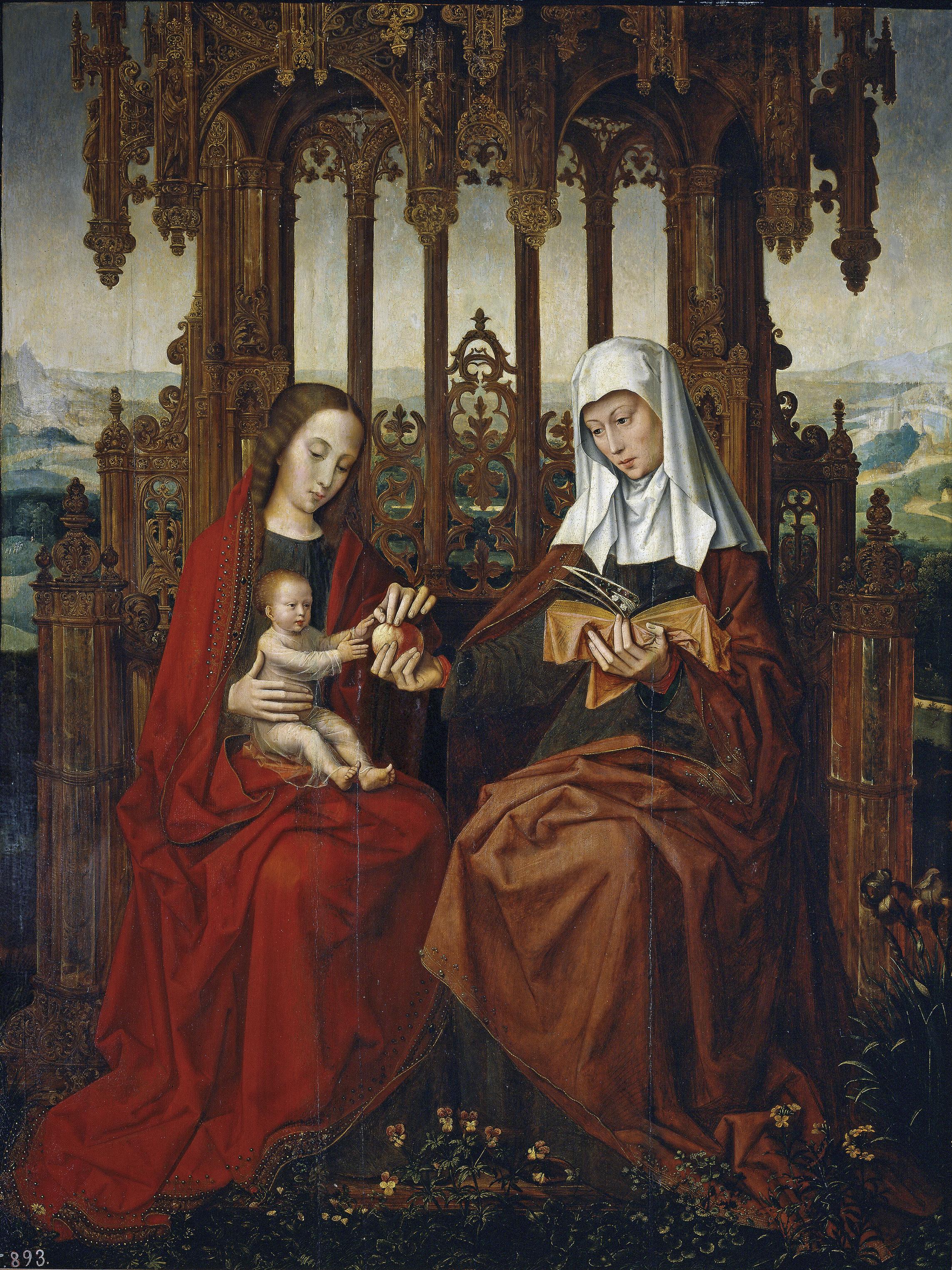 Filesanta Ana El Niño Jesús Y La Virgen Bensonjpg Wikimedia
