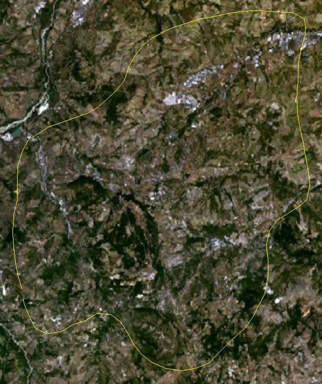 Satellitenfoto vom ''Binnenstaat'' San Marino