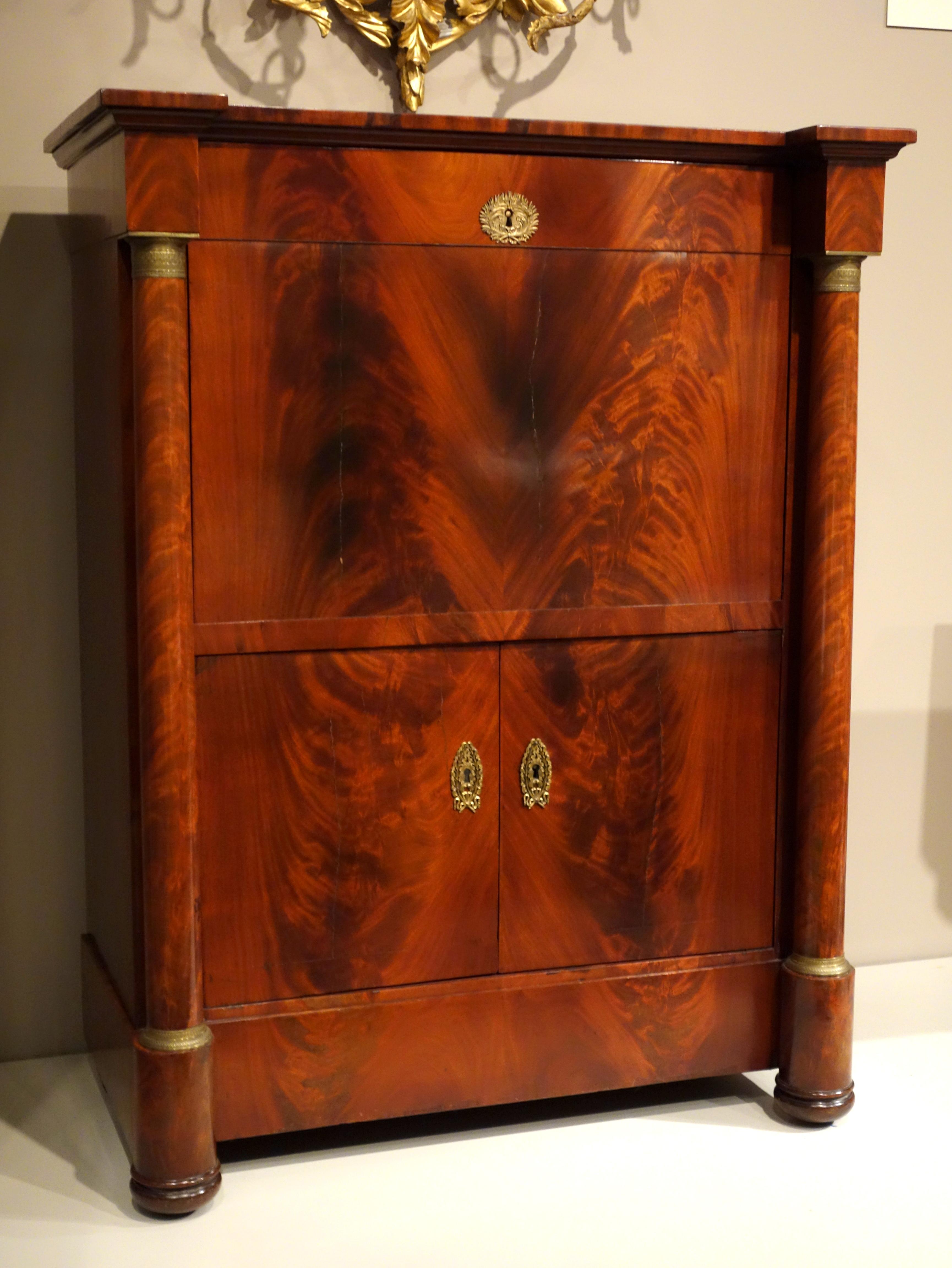 file secretaire a abattant by joseph laidain boston massachusetts 1826 mahogany mahogany. Black Bedroom Furniture Sets. Home Design Ideas