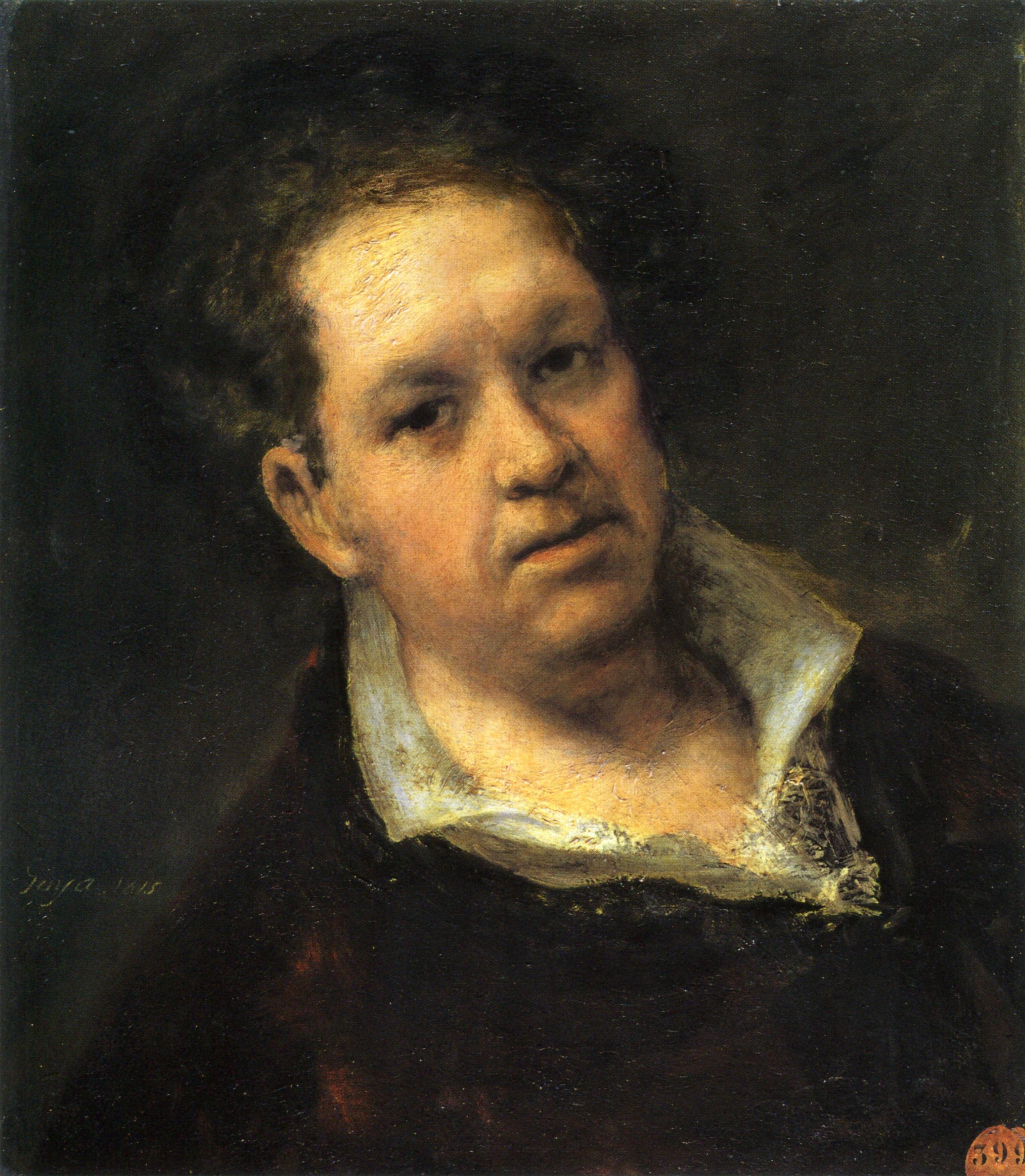 1815 francisco goya self portrait at 69 200yearsago for Autoportrait miroir