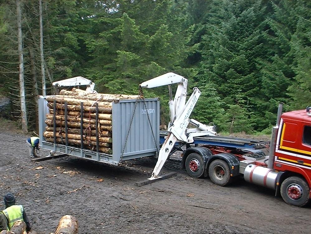 Spedition auf nach el hierro for Holzcontainer wohnen