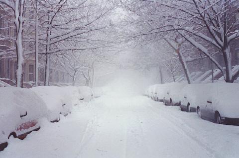 Snow on Second Street