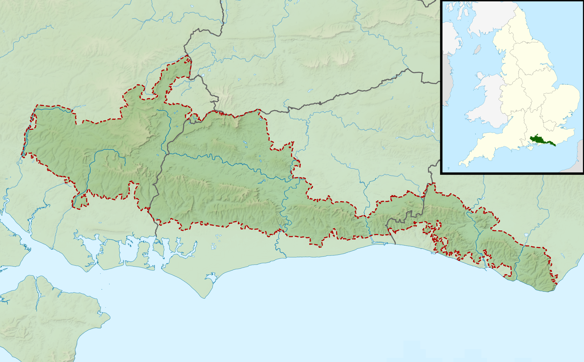 South Downs National Park Map File:South Downs National Park UK relief location map.png