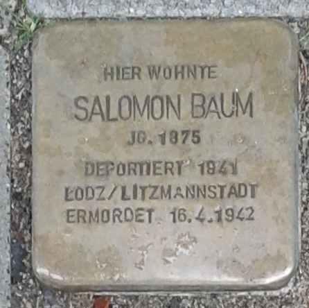 Stolperstein für Salomon Baum