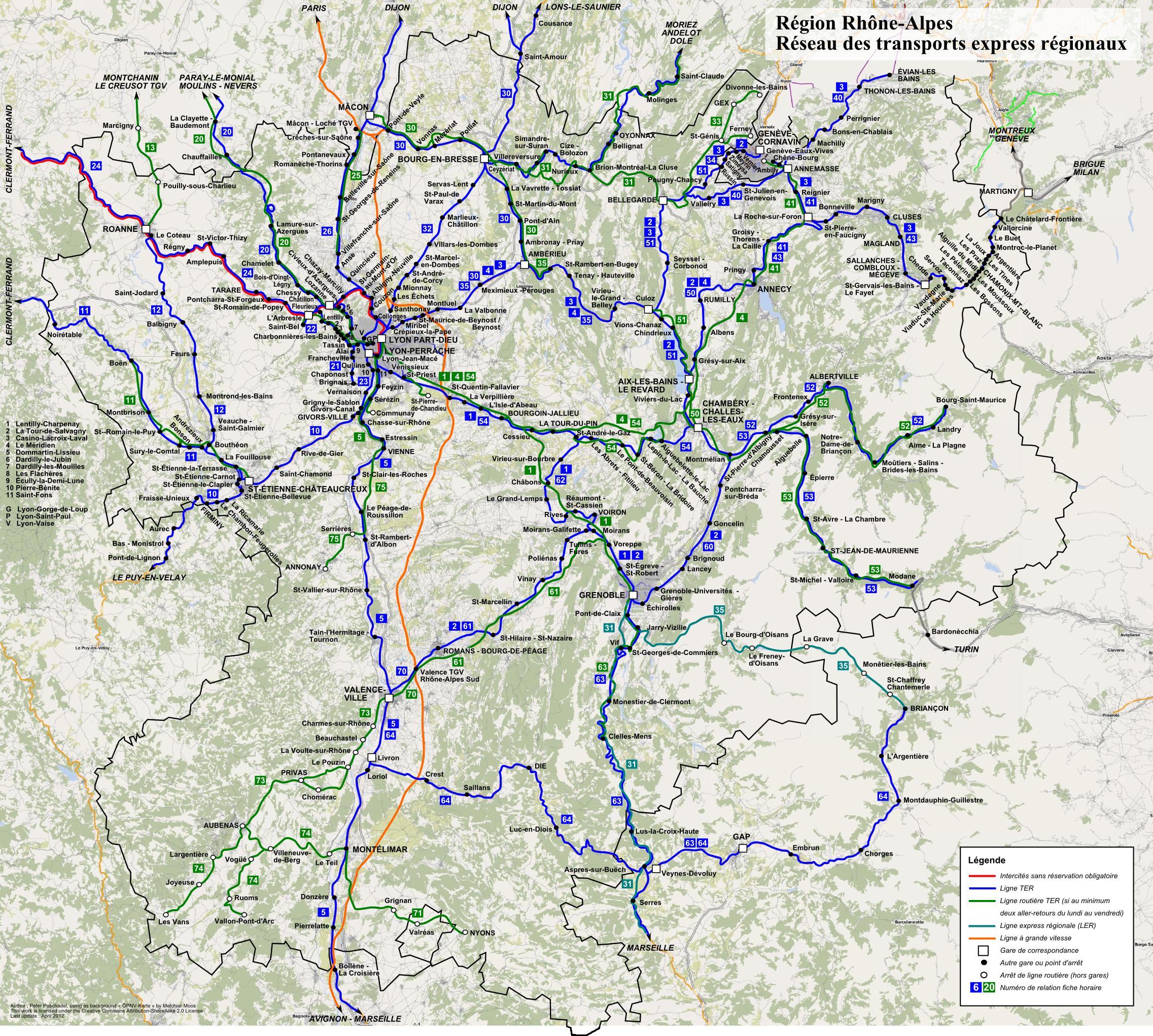 ter rhone alpes carte File:TER Rhône Alpes, carte du réseau.png   Wikimedia Commons