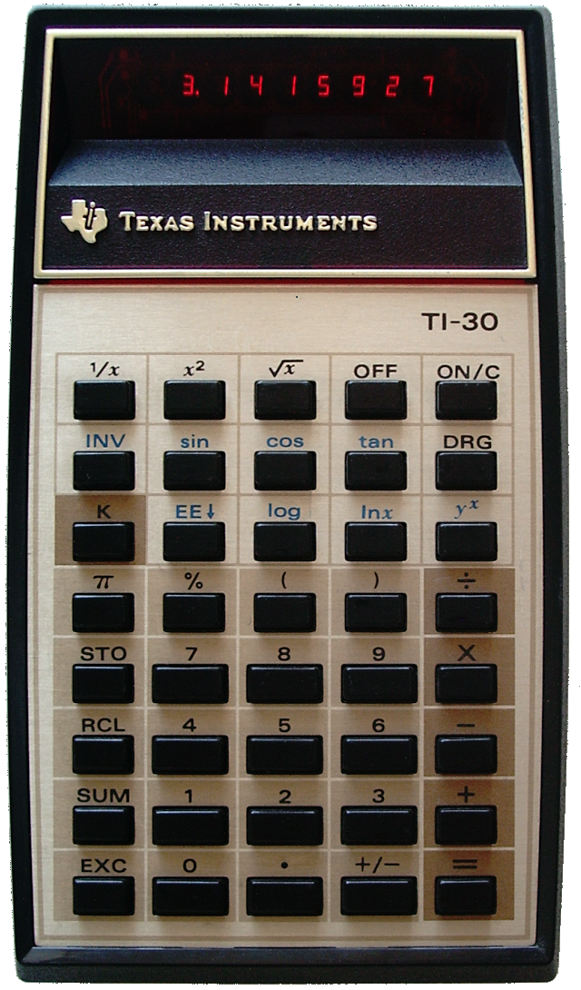 Calcolatrici elettroniche - Texas Instruments TI-30