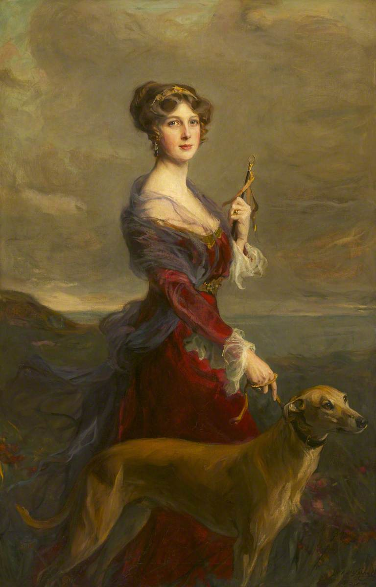 https://upload.wikimedia.org/wikipedia/commons/e/e9/The_Honourable_Edith_Helen_Chaplin_%281878%E2%80%931959%29%2C_Marchioness_of_Londonderry%2C_DBE%2C_with_Her_Favourite_Greyhound%2C_%27Fly%27.jpg