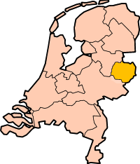 Location of  Twente  (Yellow)